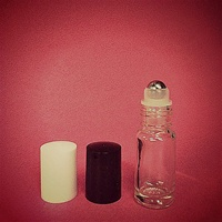 Metal Roll-On Bottle (Black Cap)