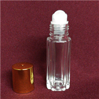 Roll-On Bottle w/Gold Cap