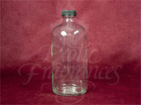 Boston Round Screw-On-Top Glass Bottle