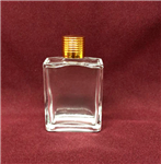Square Style Bottle (Gold Cap)