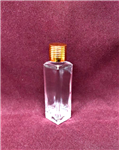Square Tall Style Bottle (Gold Cap)