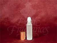 Frosted Roll-On Bottle (Gold Cap)